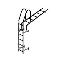 Лестница кровельная стеновая дл. 1860 мм без кронштейнов (черный)