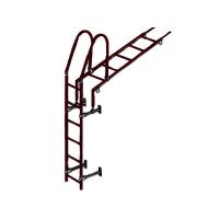 Лестница кровельная стеновая 1860 мм (без кронштейнов) коричневая
