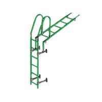 Лестница кровельная стеновая дл. 1860 мм без кронштейнов (зелёная)